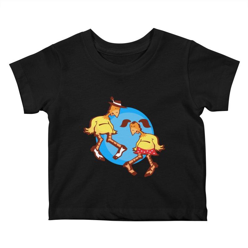 Dancing Chickens Kids Baby T-Shirt by Turkeylegsray's Artist Shop