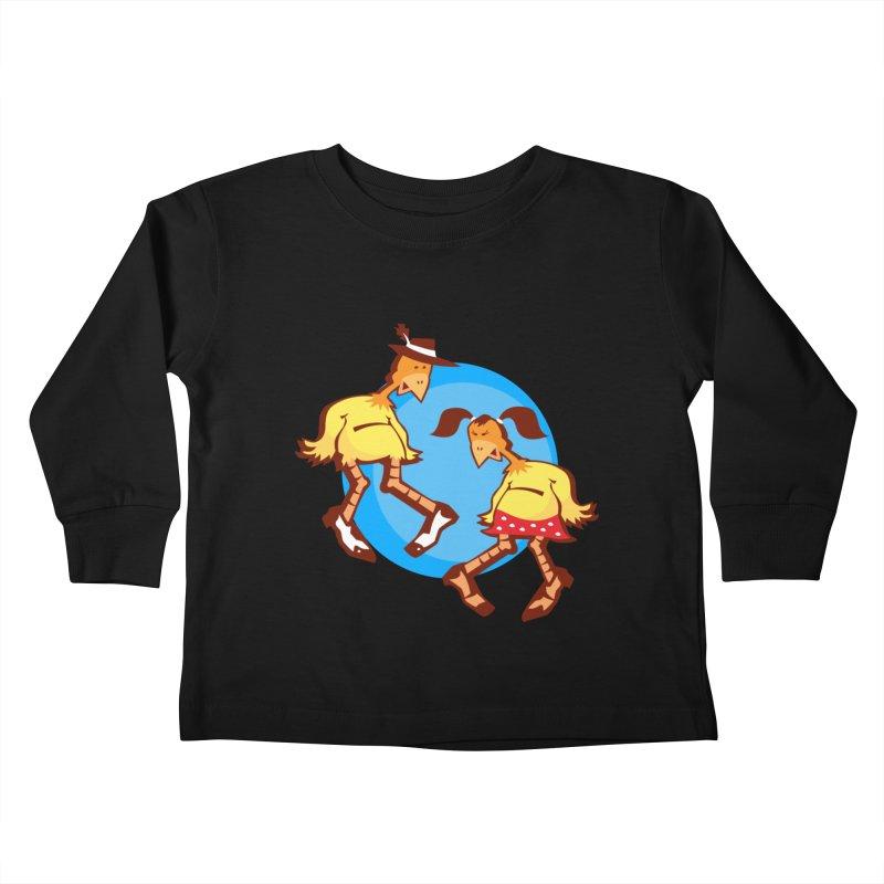 Dancing Chickens Kids Toddler Longsleeve T-Shirt by Turkeylegsray's Artist Shop
