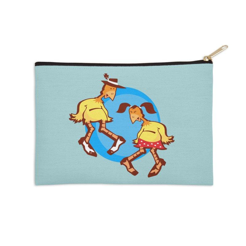 Dancing Chickens Accessories Zip Pouch by Turkeylegsray's Artist Shop