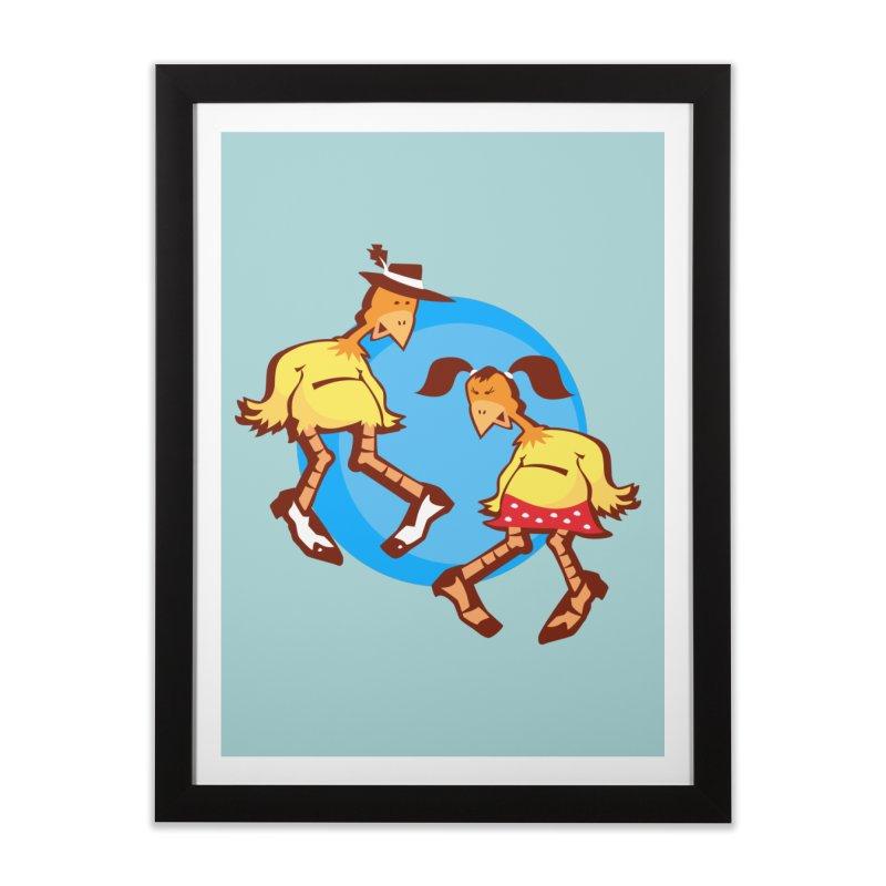 Dancing Chickens Home Framed Fine Art Print by Turkeylegsray's Artist Shop