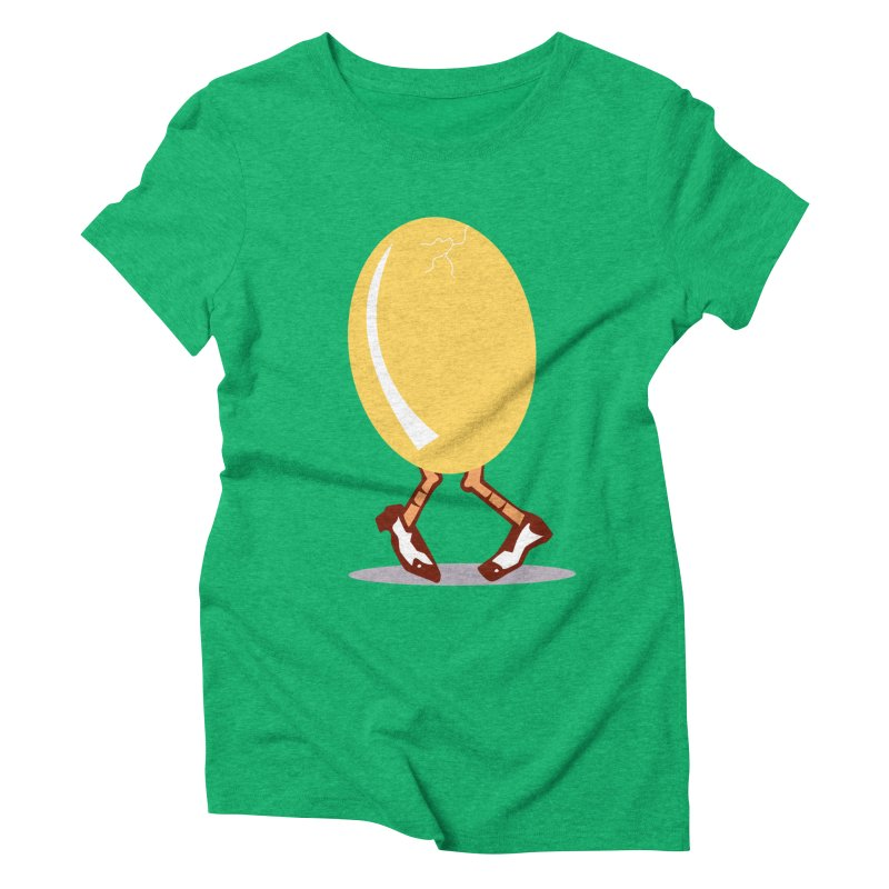 Dancing Egg Women's Triblend T-shirt by Turkeylegsray's Artist Shop