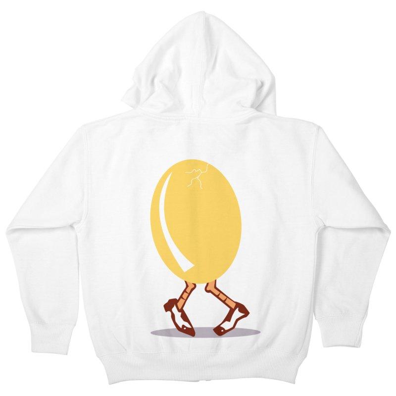Dancing Egg Kids Zip-Up Hoody by Turkeylegsray's Artist Shop