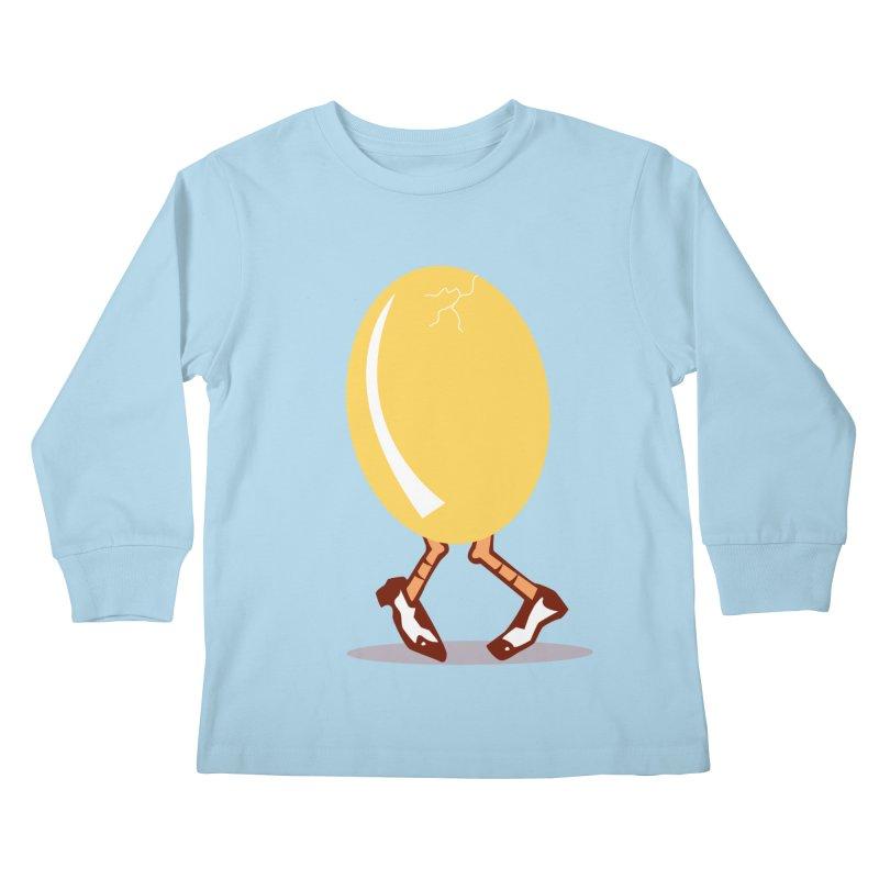 Dancing Egg Kids Longsleeve T-Shirt by Turkeylegsray's Artist Shop