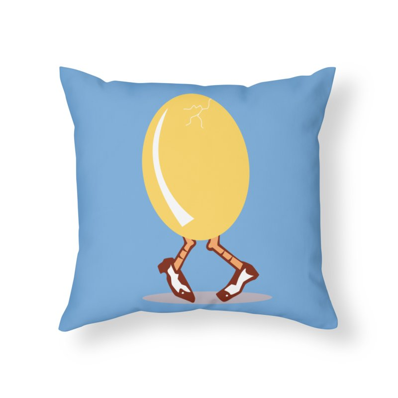 Dancing Egg Home Throw Pillow by Turkeylegsray's Artist Shop