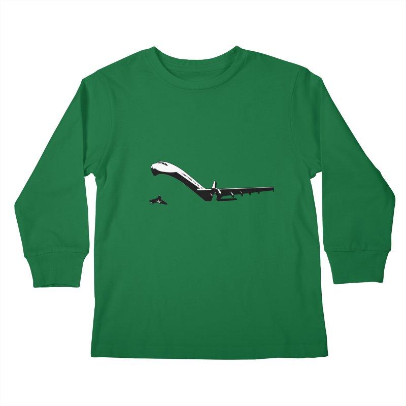 Plane Kids Longsleeve T-Shirt by Turkeylegsray's Artist Shop