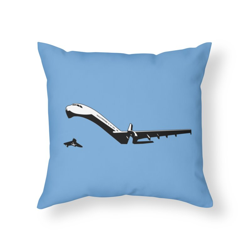 Plane Home Throw Pillow by Turkeylegsray's Artist Shop