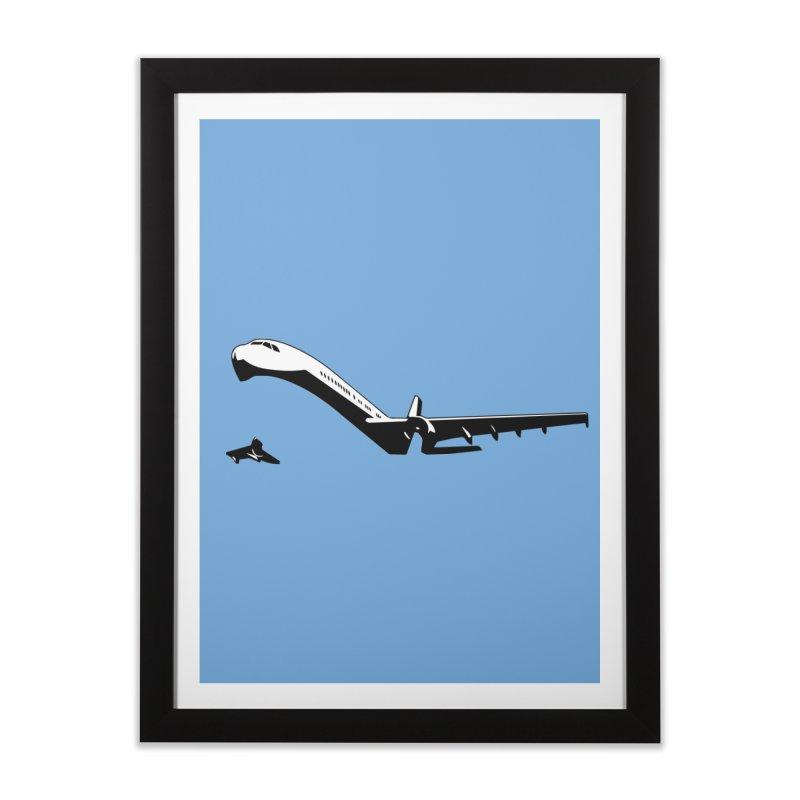 Plane Home Framed Fine Art Print by Turkeylegsray's Artist Shop