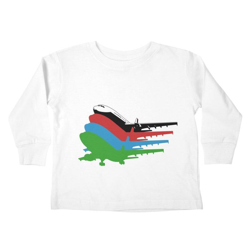 Planes Kids Toddler Longsleeve T-Shirt by Turkeylegsray's Artist Shop