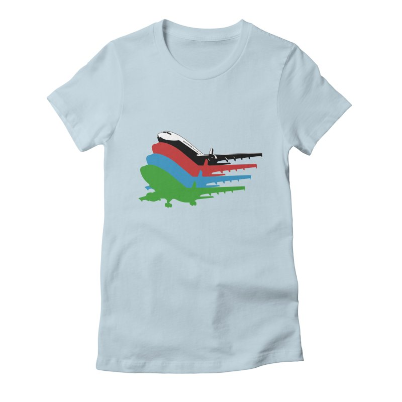 Planes Women's Fitted T-Shirt by Turkeylegsray's Artist Shop