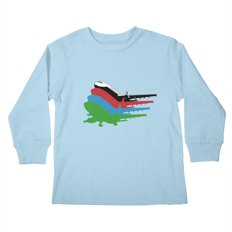 Planes Kids Longsleeve T-Shirt by Turkeylegsray's Artist Shop
