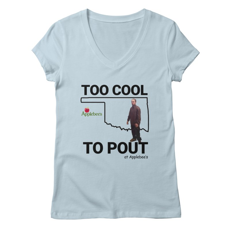 TOO COOL TO POUT Women's V-Neck by Turkeylegsray's Artist Shop
