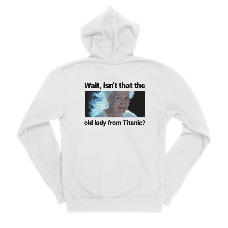 Old Lady from Titanic Men's Zip-Up Hoody by Turkeylegsray's Artist Shop