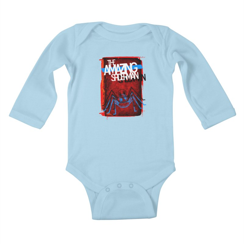 The Amazing Spider-Man!  Kids Baby Longsleeve Bodysuit by Turkeylegsray's Artist Shop