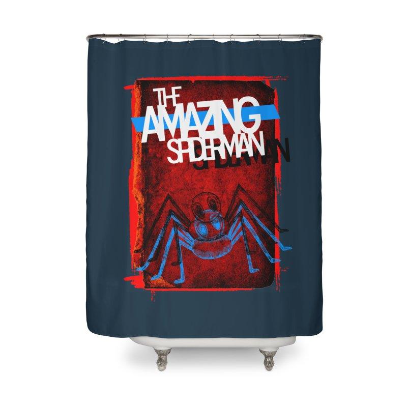 The Amazing Spider-Man!  Home Shower Curtain by Turkeylegsray's Artist Shop