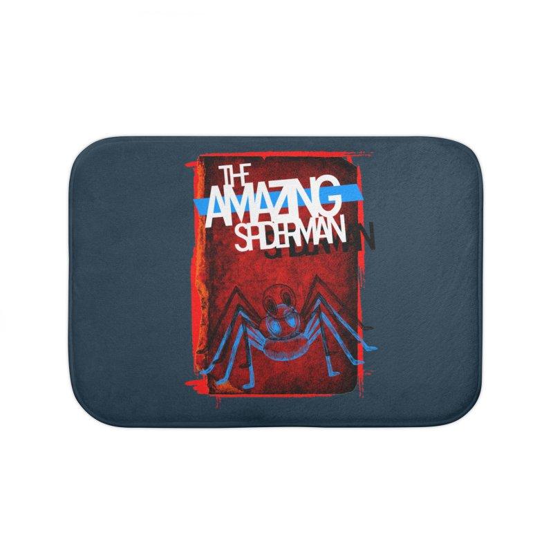 The Amazing Spider-Man!  Home Bath Mat by Turkeylegsray's Artist Shop