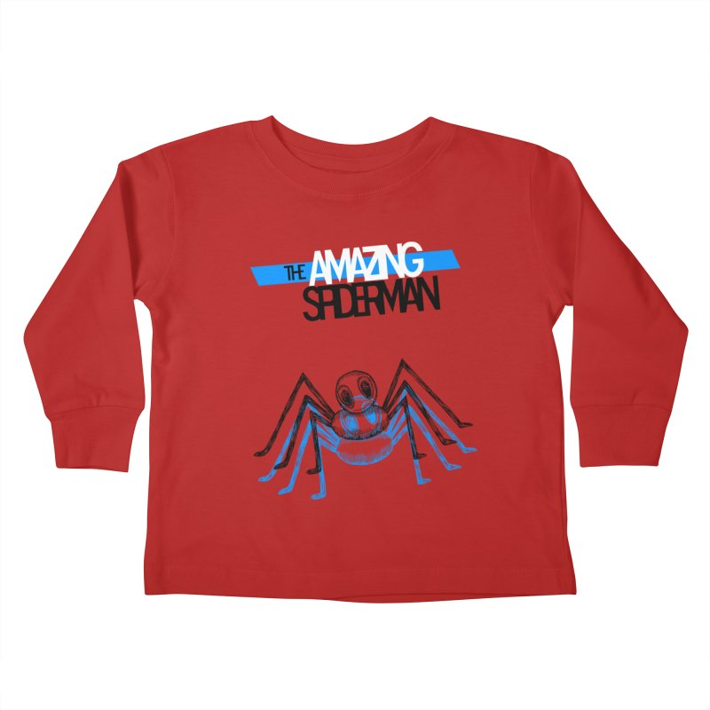 The Amazing Spider-Man Sans Background!  Kids Toddler Longsleeve T-Shirt by Turkeylegsray's Artist Shop
