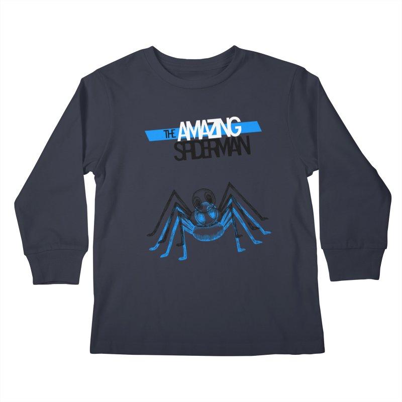 The Amazing Spider-Man Sans Background!  Kids Longsleeve T-Shirt by Turkeylegsray's Artist Shop