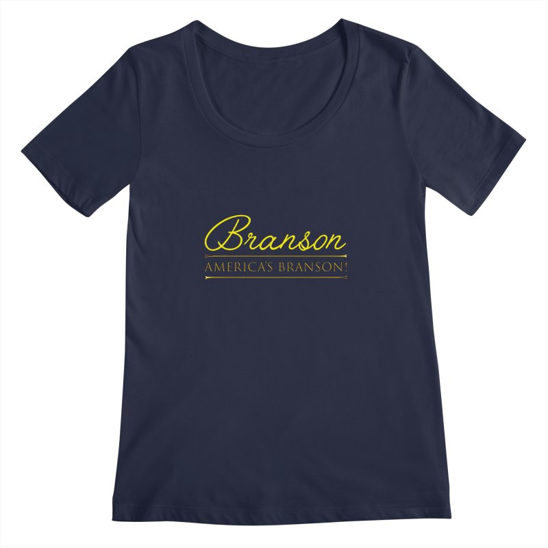 BRANSON: AMERICA'S BRANSON!  Women's Scoopneck by Turkeylegsray's Artist Shop
