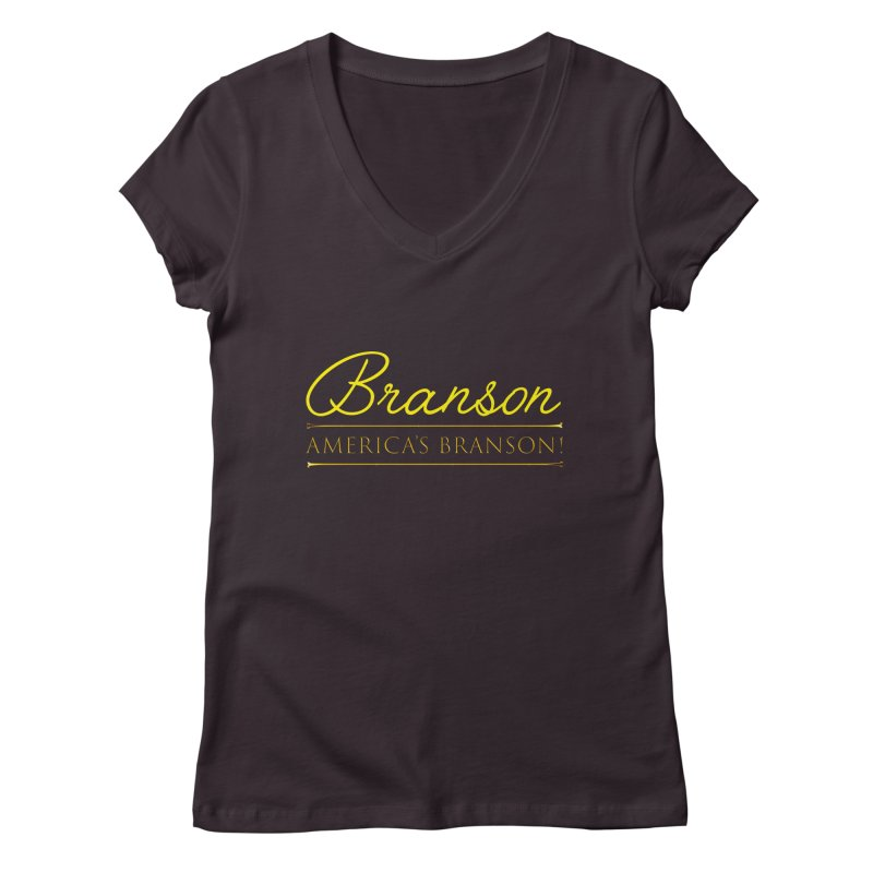 BRANSON: AMERICA'S BRANSON!  Women's V-Neck by Turkeylegsray's Artist Shop