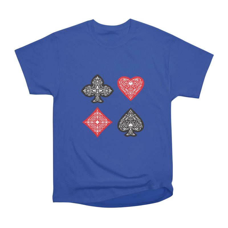 Playing Card Suits Men's Classic T-Shirt by Turkeylegsray's Artist Shop