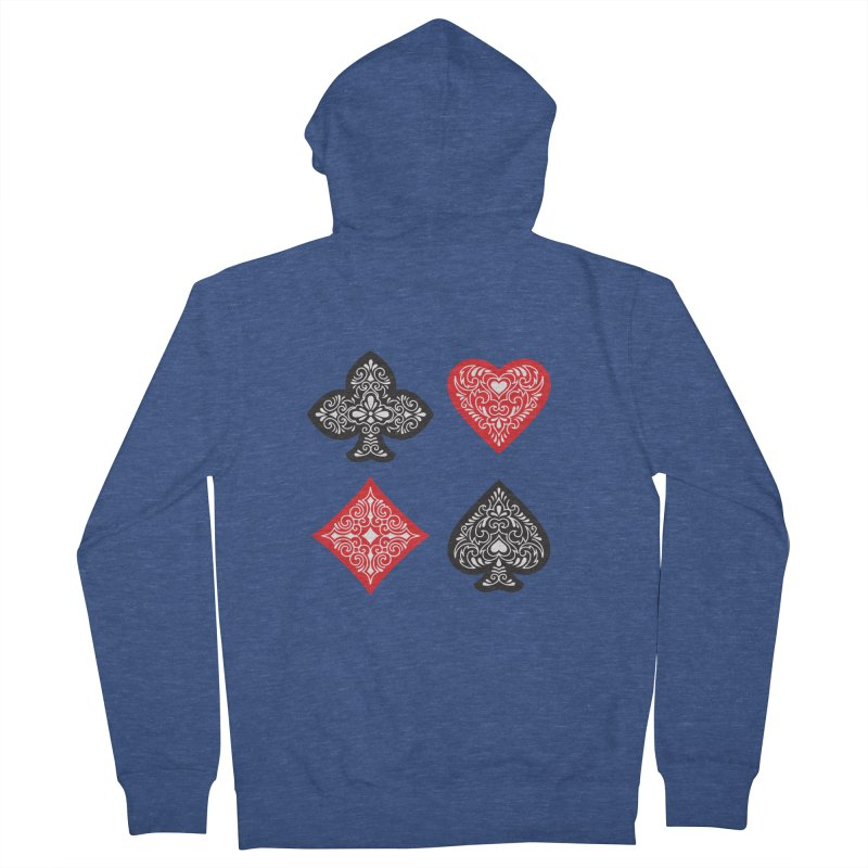 Playing Card Suits Women's Zip-Up Hoody by Turkeylegsray's Artist Shop