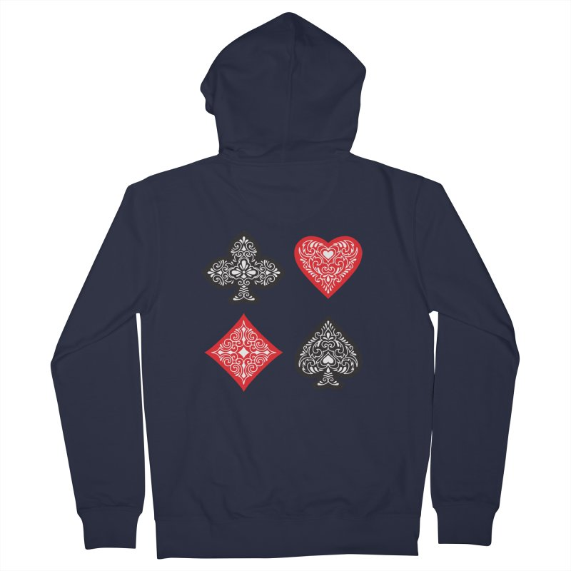 Playing Card Suits Men's Zip-Up Hoody by Turkeylegsray's Artist Shop