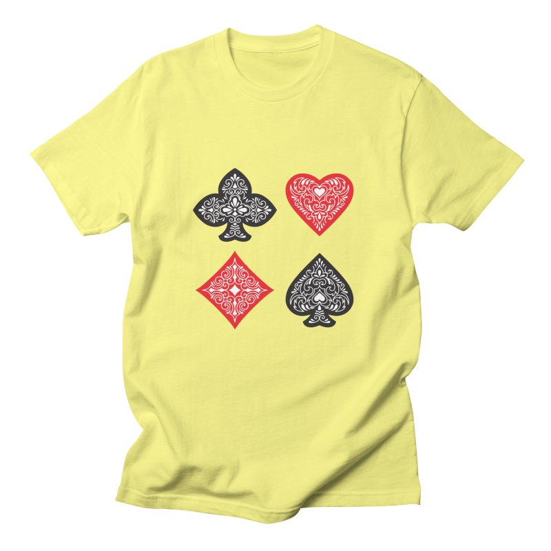 Playing Card Suits Women's Unisex T-Shirt by Turkeylegsray's Artist Shop