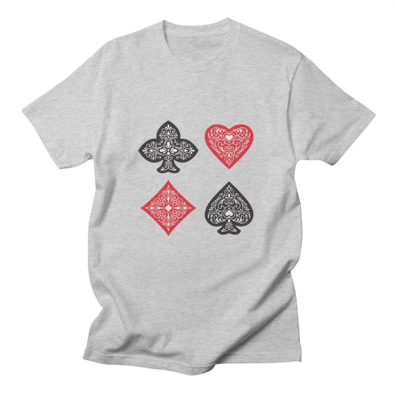 Playing Card Suits Men's T-shirt by Turkeylegsray's Artist Shop
