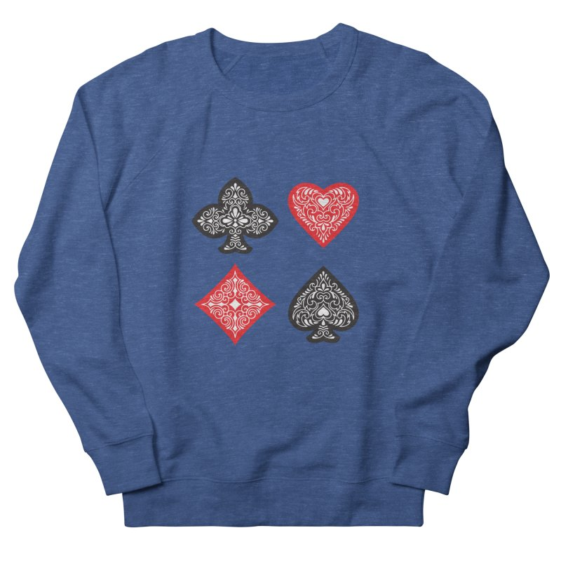 Playing Card Suits Women's Sweatshirt by Turkeylegsray's Artist Shop