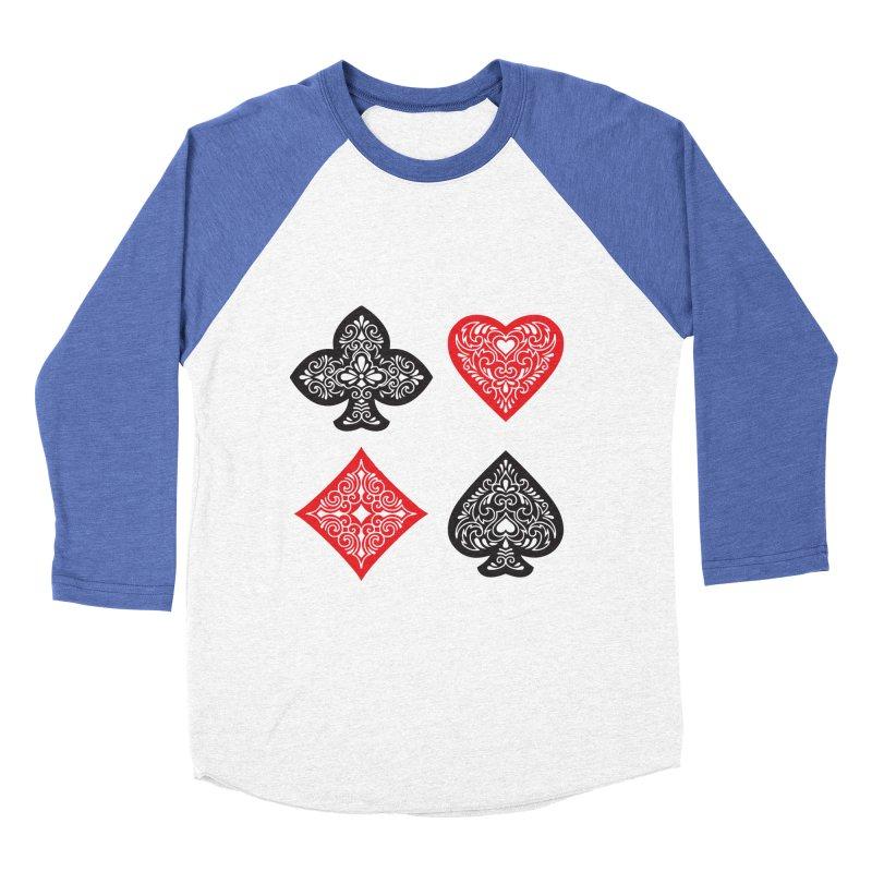 Playing Card Suits Women's Baseball Triblend T-Shirt by Turkeylegsray's Artist Shop