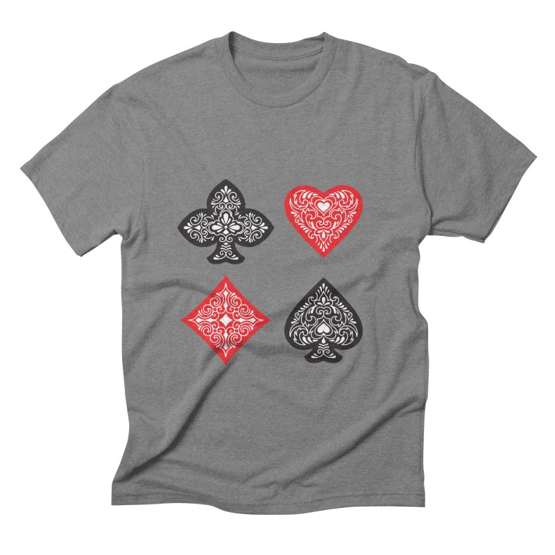 Playing Card Suits Men's Triblend T-shirt by Turkeylegsray's Artist Shop