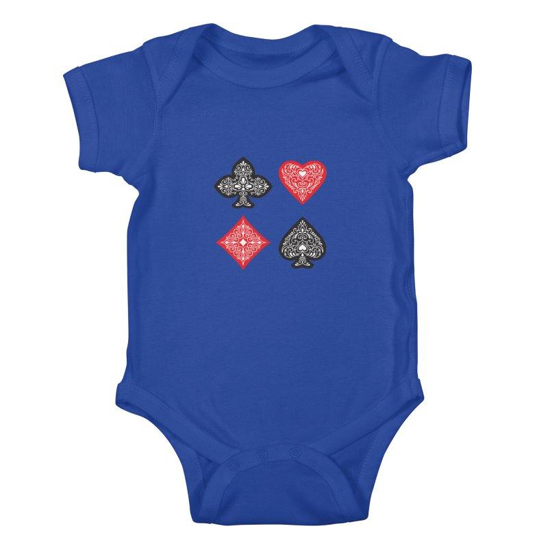 Playing Card Suits Kids Baby Bodysuit by Turkeylegsray's Artist Shop