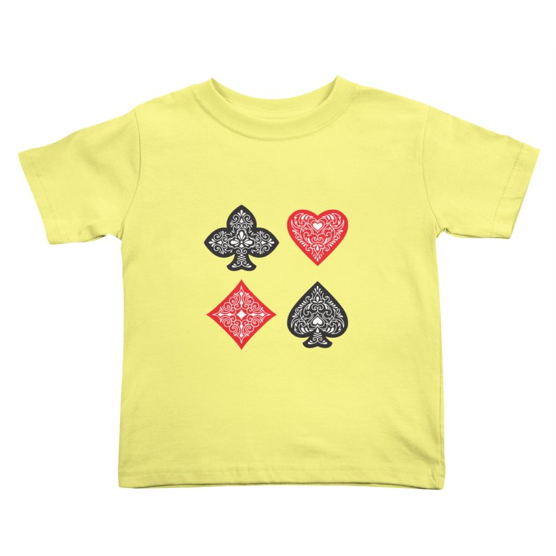 Playing Card Suits Kids Toddler T-Shirt by Turkeylegsray's Artist Shop