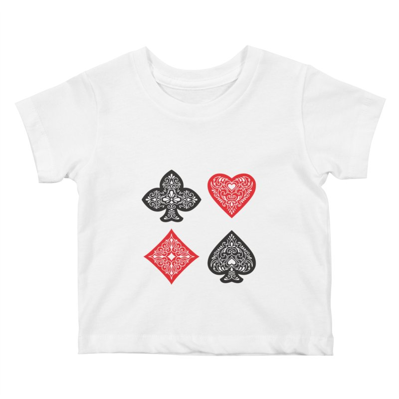 Playing Card Suits Kids Baby T-Shirt by Turkeylegsray's Artist Shop