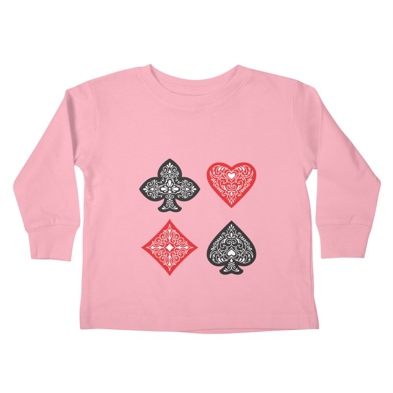 Playing Card Suits Kids Toddler Longsleeve T-Shirt by Turkeylegsray's Artist Shop