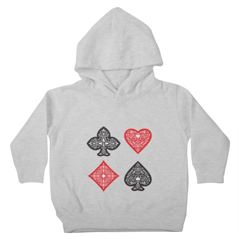 Playing Card Suits Kids Toddler Pullover Hoody by Turkeylegsray's Artist Shop