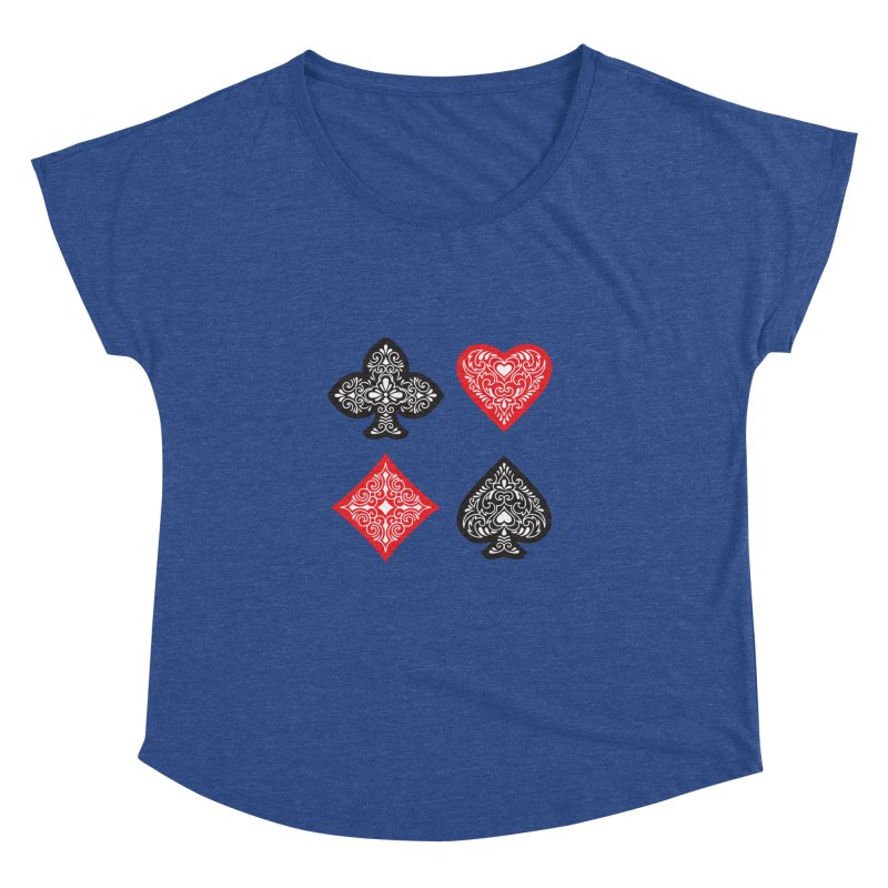 Playing Card Suits Women's Dolman by Turkeylegsray's Artist Shop