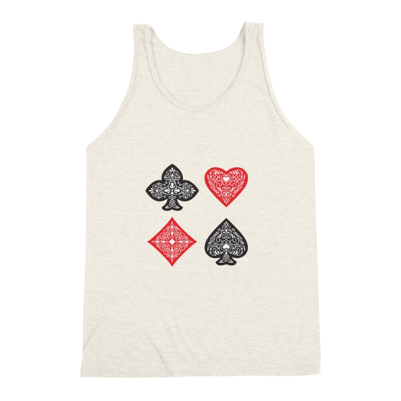 Playing Card Suits Men's Triblend Tank by Turkeylegsray's Artist Shop