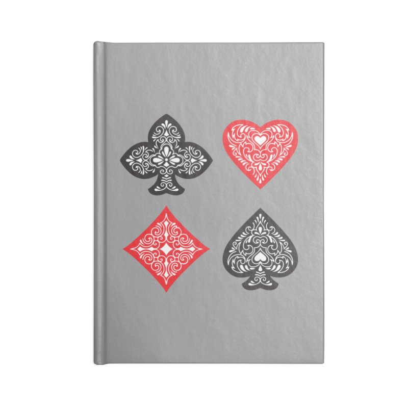 Playing Card Suits Accessories Notebook by Turkeylegsray's Artist Shop