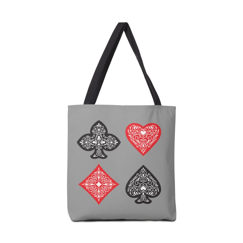 Playing Card Suits Accessories Bag by Turkeylegsray's Artist Shop