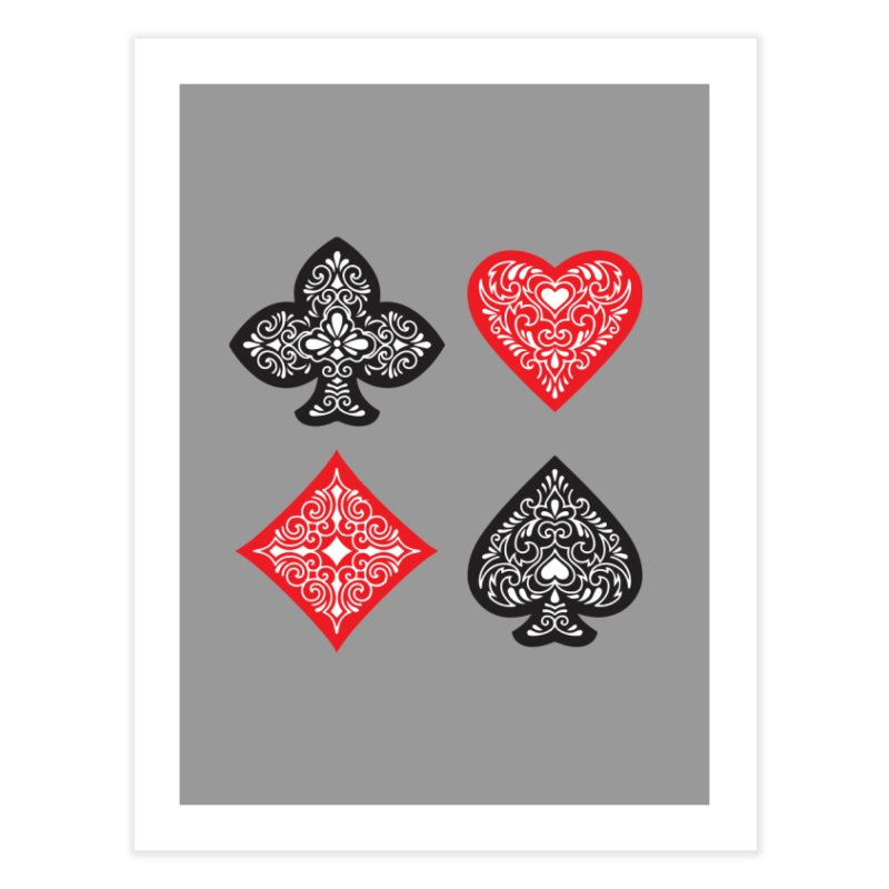 Playing Card Suits Home Fine Art Print by Turkeylegsray's Artist Shop