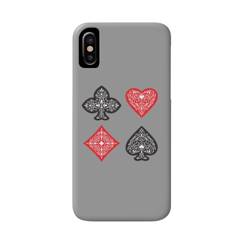 Playing Card Suits Accessories Phone Case by Turkeylegsray's Artist Shop