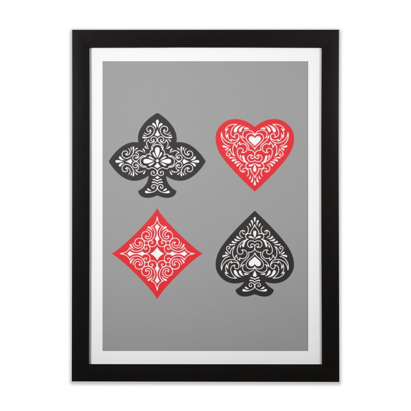 Playing Card Suits Home Framed Fine Art Print by Turkeylegsray's Artist Shop