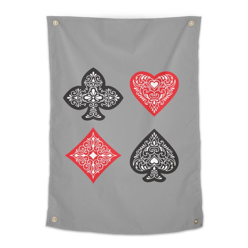 Playing Card Suits Home Tapestry by Turkeylegsray's Artist Shop