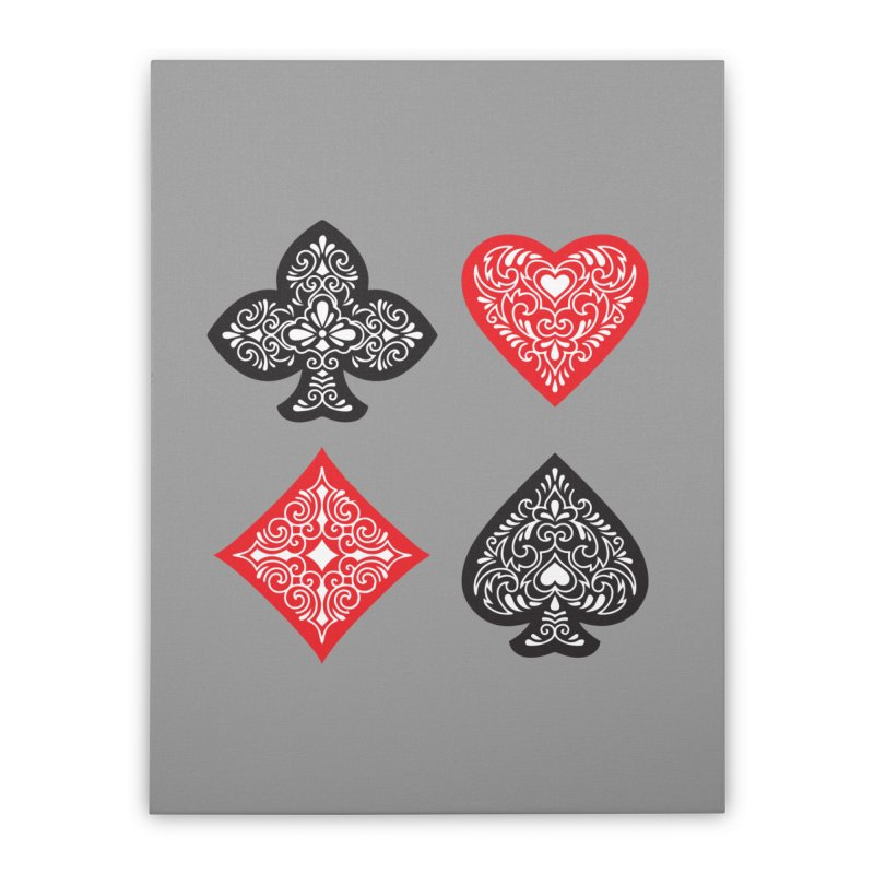 Playing Card Suits Home Stretched Canvas by Turkeylegsray's Artist Shop