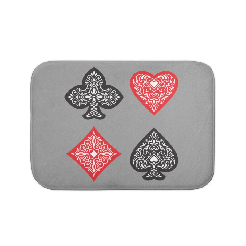 Playing Card Suits Home Bath Mat by Turkeylegsray's Artist Shop