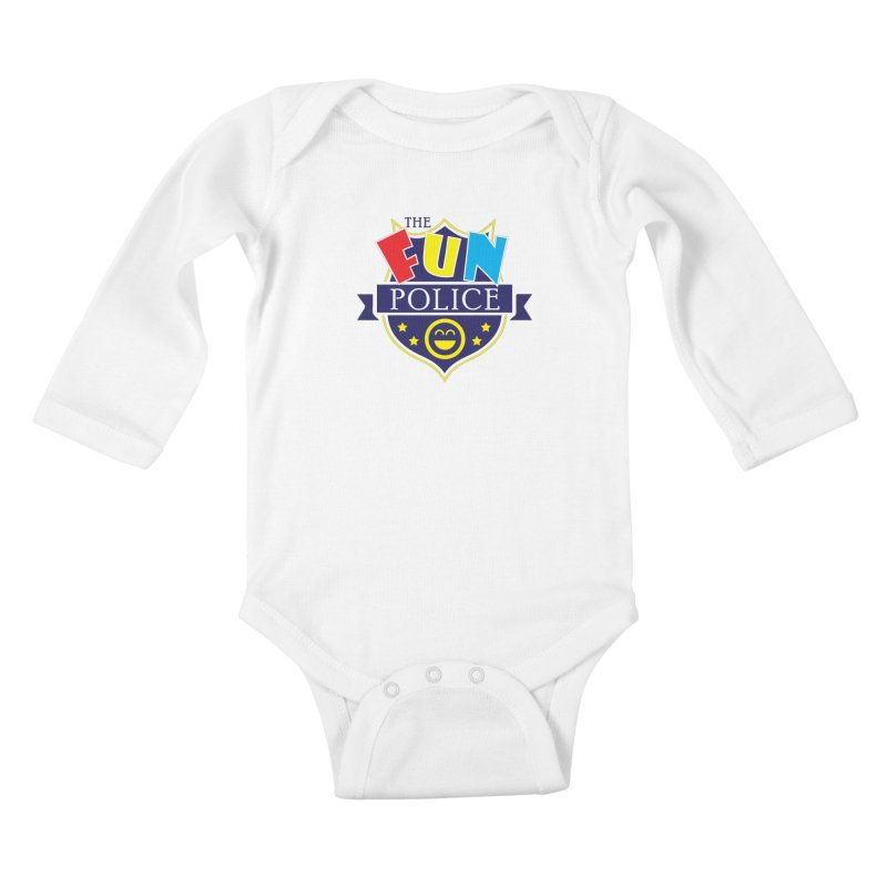 ThE FuN PoLiCE!!! Kids Baby Longsleeve Bodysuit by Turkeylegsray's Artist Shop