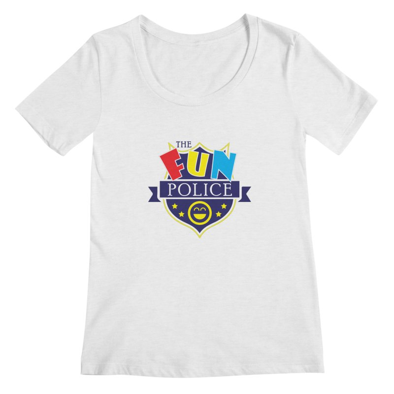 ThE FuN PoLiCE!!! Women's Scoopneck by Turkeylegsray's Artist Shop