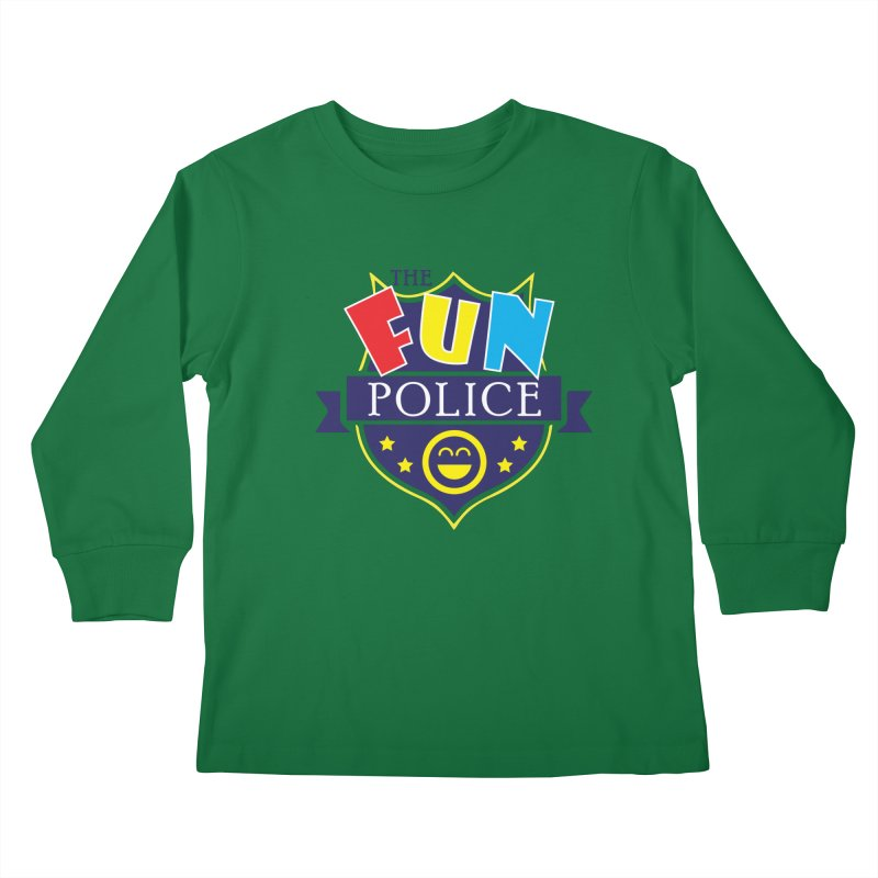 ThE FuN PoLiCE!!! Kids Longsleeve T-Shirt by Turkeylegsray's Artist Shop