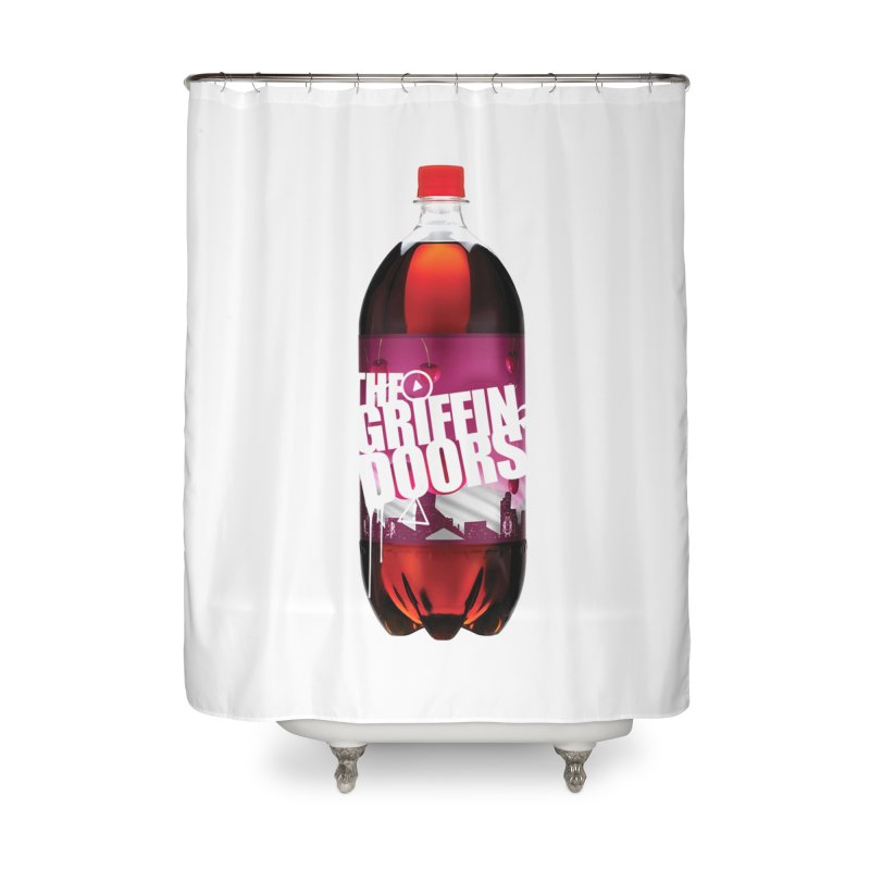 """THE GRIFFINDOORS """"Cherry Coke"""" Home Shower Curtain by Turkeylegsray's Artist Shop"""